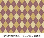 argyle pattern seamless. fabric ... | Shutterstock .eps vector #1864121056