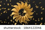 circularly sorted crunchy... | Shutterstock . vector #1864122046