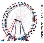 colorful double carousel vector ... | Shutterstock .eps vector #186414848
