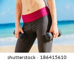 close up of torso of fitness... | Shutterstock . vector #186415610