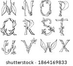 unusual letters that can be... | Shutterstock .eps vector #1864169833