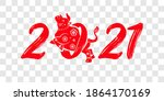 happy chinese new year 2021 ... | Shutterstock .eps vector #1864170169