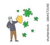 coronavirus protection ... | Shutterstock .eps vector #1864172140