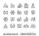business management icons.... | Shutterstock .eps vector #1864183216