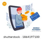 mobile payment vector...