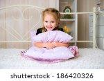 sweet thoughtful little girl... | Shutterstock . vector #186420326