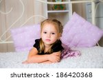sweet thoughtful little girl... | Shutterstock . vector #186420368