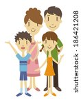 two generation family  vector... | Shutterstock .eps vector #186421208