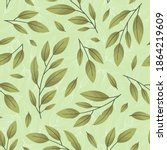 vector seamless pattern with... | Shutterstock .eps vector #1864219609