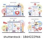 public relations online service ... | Shutterstock .eps vector #1864222966