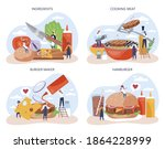 fast food  burger house concept ... | Shutterstock .eps vector #1864228999