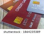 closeup credit card payment...   Shutterstock . vector #1864235389