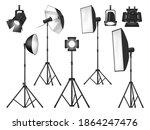photo studio lighting equipment ... | Shutterstock .eps vector #1864247476