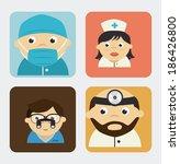 medical design over gray... | Shutterstock .eps vector #186426800