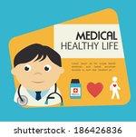 medical design over blue... | Shutterstock .eps vector #186426836