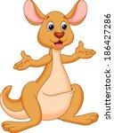 illustration of kangaroo cartoon | Shutterstock .eps vector #186427286