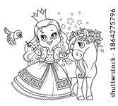 Cute Princess In Lush Dress...