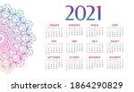 2021 new year mandala style... | Shutterstock .eps vector #1864290829