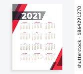 new year 2021 calendar design...   Shutterstock .eps vector #1864291270