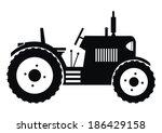 tractor   black  vector icon | Shutterstock .eps vector #186429158