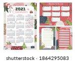 2021 printable wall calendar on ...   Shutterstock .eps vector #1864295083