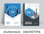 corporate book cover design... | Shutterstock .eps vector #1864307596