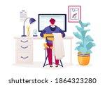 young business man  programmer  ... | Shutterstock .eps vector #1864323280