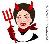 Emoji With Evil Devil Women...