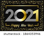 2021 a happy new year congrats... | Shutterstock .eps vector #1864353946