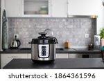 Modern multi cooker in kitchen