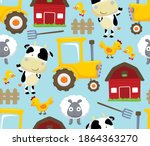 Seamless Pattern Vector Of Farm ...