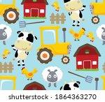Seamless Pattern Vector Of Farm ...