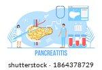 pancreatitis concept vector.... | Shutterstock .eps vector #1864378729