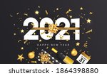 happy new year 2021 greeting... | Shutterstock .eps vector #1864398880