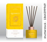 quince home fragrance sticks... | Shutterstock .eps vector #1864399969