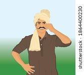 illustration of proud indian... | Shutterstock .eps vector #1864400230
