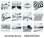 nature landscape icons.vector... | Shutterstock .eps vector #186440264