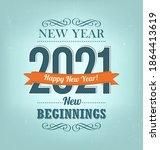 2021   calligraphic new year... | Shutterstock .eps vector #1864413619