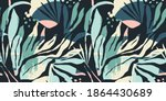 artistic seamless pattern with... | Shutterstock .eps vector #1864430689