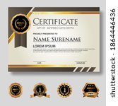 modern certificate template in...   Shutterstock .eps vector #1864446436