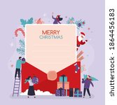 xmas greeting card. merry... | Shutterstock .eps vector #1864456183