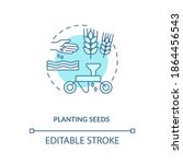 planting seeds concept icon.... | Shutterstock .eps vector #1864456543