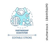 partnership ecosystem concept... | Shutterstock .eps vector #1864456690