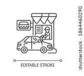 drive through restaurant linear ... | Shutterstock .eps vector #1864460290