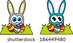 creative design of  rabbit and...   Shutterstock . vector #186449480