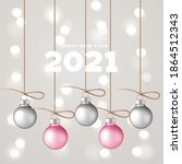 decorative pink and grey... | Shutterstock .eps vector #1864512343