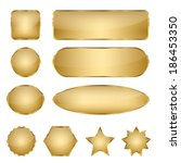 set of 10 elegant golden blank... | Shutterstock .eps vector #186453350