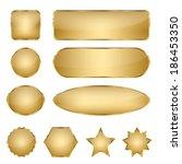 set of 10 elegant golden blank... | Shutterstock .eps vector #186453350