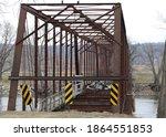 Old Framework Of Bridge.  Rusty ...