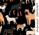 Dogs Seamless Background....